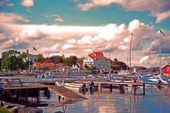 Styrso ö i den Sothern skärgården av Göteborg fotografering för bildbyråer