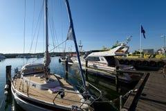 Styrso Marina, Sweden. Royalty Free Stock Images