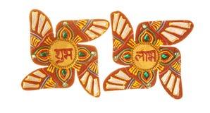 Suástica Hindu sagrado do símbolo Fotos de Stock Royalty Free