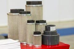 A sução nova do gás e do ar e do óleo da entrada filtra elementos para industrial imagem de stock