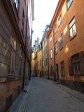 Suécia, Éstocolmo - a cidade velha de Gamla Stan imagem de stock royalty free