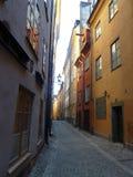 Suécia, Éstocolmo - a cidade velha de Gamla Stan imagens de stock royalty free