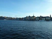 Suécia, Éstocolmo - a cidade velha de Gamla Stan imagem de stock