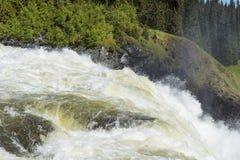 Suécia da cachoeira de Tannforsen fotografia de stock