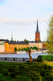 Suécia da cidade de Éstocolmo da cidade de Gamla Stan Old Fotos de Stock Royalty Free