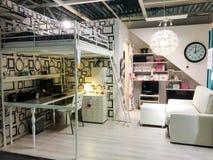 SUÉCIA - 1º DE AGOSTO: Loja de móveis interior Fotografia de Stock