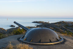 Suécia de Landsort da bateria da artilharia de costa Imagem de Stock Royalty Free
