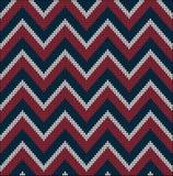 Suéter battlement2 del modelo de los colores de los E.E.U.U. que hace punto Fotos de archivo libres de regalías