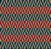 Suéter blue2 rojo del modelo que hace punto Foto de archivo libre de regalías