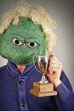 Suéter de la máscara del lagarto fotografía de archivo