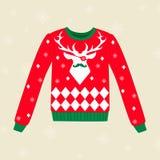 Suéter feo de la Navidad Imagen de archivo libre de regalías