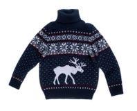 Suéter hecho punto con un modelo de alces Fotografía de archivo libre de regalías