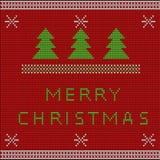 Suéter hecho punto rojo de la Navidad Foto de archivo libre de regalías