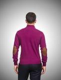 Suéter masculino aislado en el blanco Imágenes de archivo libres de regalías