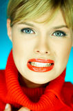 Suéter rojo Imagen de archivo libre de regalías