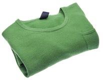 Suéter verde recientemente lavado imagenes de archivo