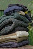 Suéteres del cable de los pescadores pesados del knit Imagen de archivo libre de regalías