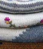 Suéteres del invierno Imágenes de archivo libres de regalías