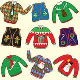 Suéteres FEOS de la Navidad libre illustration