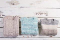 Suéteres hechos a mano Foto de archivo