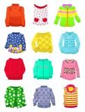 Suéteres para las muchachas Fotografía de archivo