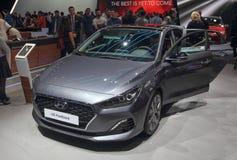 Suíça; Genebra; 8 de março de 2018; Fastback de Hyundai i30; Os 88 foto de stock royalty free