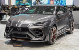 Suíça; Genebra; 9 de março de 2019; Mansory Lamborghini Urus Ventaus; A 89th exposição automóvel internacional em Genebra do 7a a imagens de stock