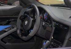 Suíça; Genebra; 8 de março de 2018; O interior de Techart Porsche Imagem de Stock Royalty Free