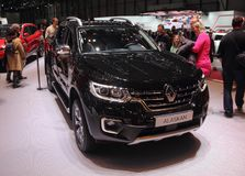 Suíça; Genebra; 8 de março de 2018; Renault Alaskan; O 88t fotos de stock royalty free