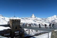Suíça - Gornergrat 3089 m imagens de stock royalty free