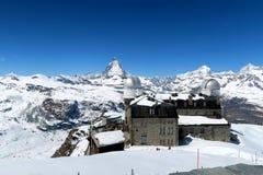 Suíça - Gornergrat 3089 m Fotografia de Stock Royalty Free