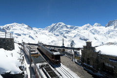 Suíça - Gornergrat 3089 m imagem de stock