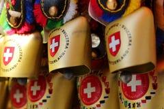 Suíça, lembrança, sino do ` s da vaca, sino do gado Fotografia de Stock Royalty Free