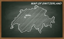 Suíça no quadro-negro Fotografia de Stock Royalty Free