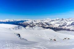 Suíça suíço de Zermatt da paisagem das montanhas dos cumes Imagens de Stock Royalty Free