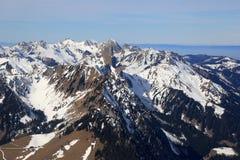 Suíço AE de Suíça da montanha das montanhas dos cumes de Stockhorn Gantrisch Fotos de Stock