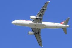 Suíço Airbus A-320 no aeroporto LJMB de Maribor Fotos de Stock Royalty Free