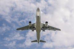 Suíço Airbus A-320 no aeroporto LJMB de Maribor Foto de Stock Royalty Free