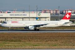 Suíço de HB-IOK, Airbus A321-111 Imagem de Stock