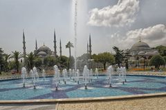 Sułtanu Ahmed meczetowy Błękitny Meczetowy zewnętrzny widok w świetle dziennym zdjęcia royalty free