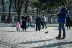 Sułtanu Ahmet kwadrat w Istanbuł, Turcja Obrazy Royalty Free