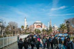 Sułtanu ahmet Sophia w Istanbuł i Hagia, Turcja Obrazy Stock