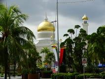 Sułtanu Omar Ali Saifudding meczet, Bandar Seri Begawan, Brunei obrazy royalty free