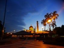 Sułtanu Omar Ali Saifudding meczet, Bandar Seri Begawan, Brunei zdjęcia royalty free