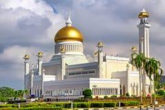 Sułtanu Omar Ali Saifudding meczet, Bandar Seri Begawan, Brunei, zdjęcie royalty free