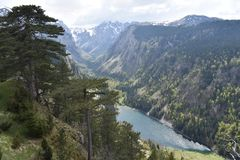 The Sušičko lake and the Sušica valley. The Durmitor National Park,Montenegro stock image