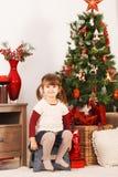 Su árbol de navidad Imagen de archivo