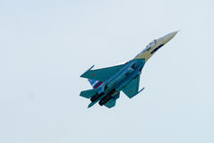 SU-27 αεροπλάνο του ρωσικού VKS Στοκ Φωτογραφίες