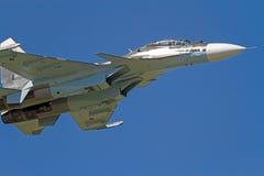 Su-30 в голубом небе Стоковое Изображение RF