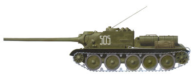 SU-100 tank destroyer Royalty Free Stock Photo